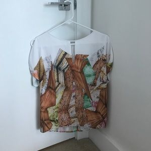 Clover canyon printed blouse